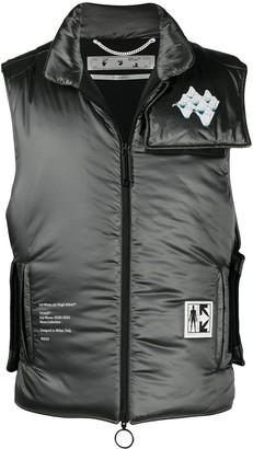 Off-White Arrows print padded vest