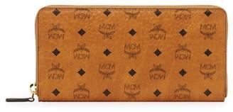MCM Large Visetos Original Leather Zip-Around Wallet