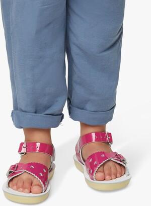 Salt Water Salt-Water Children's Sweetheart Leather Sandals, Fuschia
