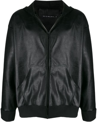Alchemy hooded faux-leather jacket