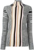 Missoni roll neck striped pullover