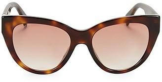 Gucci 53MM Havana Cat Eye Sunglasses