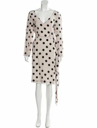 Natasha Zinko Silk Polka Dot Print Dress w/ Tags Champagne