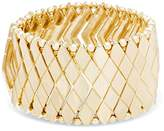 Steve Madden Pyramid and Mesh Stretch Cuff Bracelet