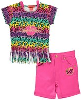 """Apple Bottoms Baby Girls' """"Leopard Fringe"""" 2-Piece Outfit"""