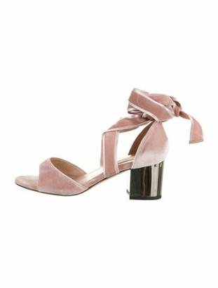 Valentino Wrap-Around Velvet Sandals Pink