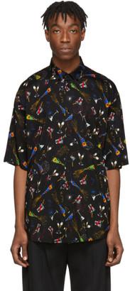 Balenciaga Black Crepe Celebration Shirt
