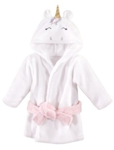 Hudson Baby Baby Girls Unicorn Plush Animal Bathrobe