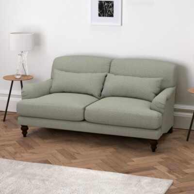 The White Company Petersham 2 Seater Sofa Wool, Light Grey Wool, One Size