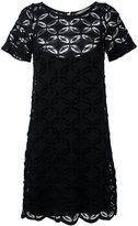 D-Exterior D.Exterior - floral embroidered shift dress - women - Cotton/Polyamide/Spandex/Elastane/Viscose - M