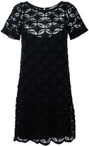 D-Exterior D.Exterior floral embroidered shift dress