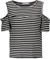 Kain Label Beverly cutout striped modal T-shirt