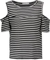 Kain Label Beverly cutout striped modal T-shirt