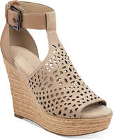 Marc Fisher Hasina T-Strap Platform Wedge Sandals Women's Shoes