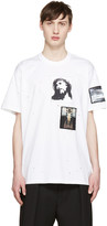 Givenchy White Distressed Jesus Patches T-Shirt