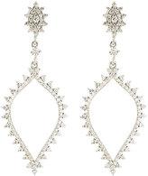 Penny Preville 18k White Gold Spiked Spade Diamond Drop Earrings