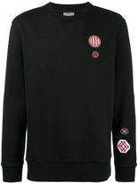 Lanvin Loopback embroidered patch sweatshirt