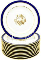 One Kings Lane Vintage Cobalt Spode Tiffany Dessert Plates S/12