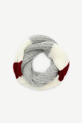 Ardene Color Block Crocheted Infinity Scarf