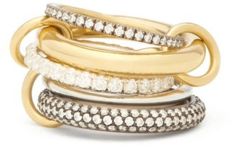 Spinelli Kilcollin Leilani Diamond And 18kt Gold Ring - Silver Gold