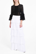 Andrew Gn Tiered Long Skirt