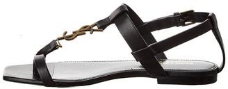 Saint Laurent Cassandra Leather Sandal