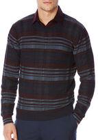 Perry Ellis Regular Fit Plaid Pullover