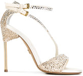 Loriblu appliquéd sandals with asymmetric straps