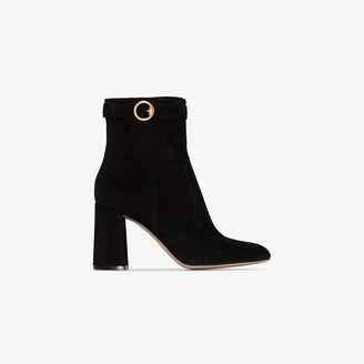 Gianvito Rossi Black 85 suede ankle boots
