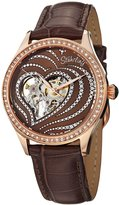 Stuhrling Original Women's 429.2245K59 Amour Aphrodite Temptation Automatic Skeleton Swarovski Crystals Leather Strap Watch