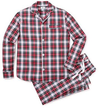 Petite Plume Men's Festive Tartan Pajama Set