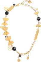 Dolce & Gabbana Bowtie pasta and gold-tone chain necklace