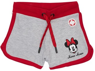 Fabric Flavours Minnie Mouse Print Cotton Sweat Shorts