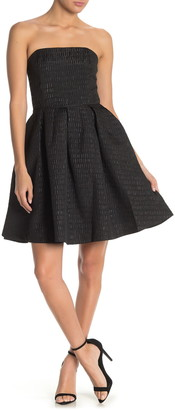 FRNCH Strapless Fit & Flare Dress