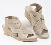 Charleston Shoe Co. Stretch Wedge Sandals - Ravanel