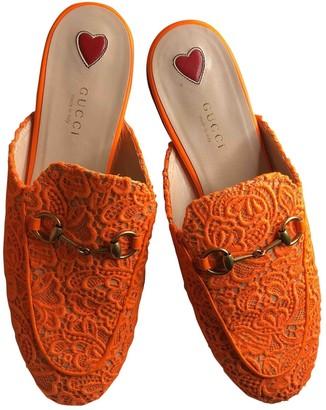 Gucci Princetown Orange Cloth Flats
