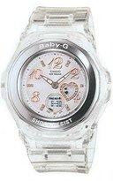 Casio Women's Baby-G BGA100-7B2 Clear Rubber Quartz Watch with Dial