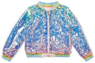Billieblush Sequin-Embellished Bomber Jacket (4-12 Years)
