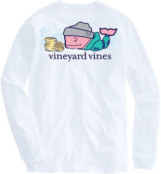 Vineyard Vines Ski Waffle Whale Long-Sleeve Pocket Tee