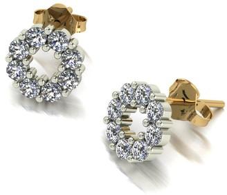 Moissanite Lady Lynsey 1Ct Circle Earrings