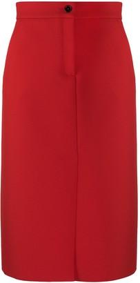 MSGM Front Slit Straight Skirt