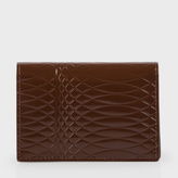 Paul Smith No.9 - Chocolate Brown Patent Leather Credit Card Wallet