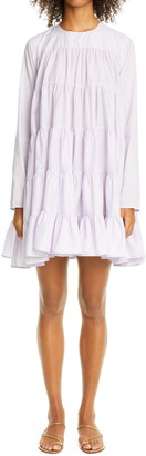 Merlette New York Soliman Tiered Long Sleeve Dress