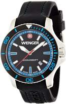 Wenger Swiss 01.0641.104 Sea Force Men's Black Silicone Watch
