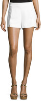 Ramy Brook Adele Slit-Hem Stretch-Viscose Shorts, Ivory