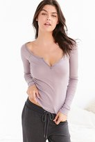 Out From Under Notch Front Long Sleeve Top