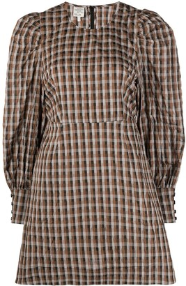 Baum und Pferdgarten Gingham Puff-Sleeve Dress