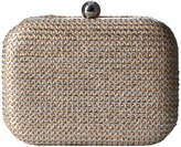 Jessica McClintock Roxi Painted Straw Minaudiere Handbags