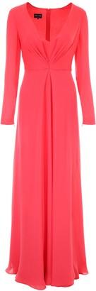 Giorgio Armani Gathered Maxi Dress
