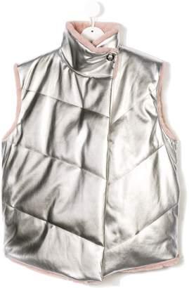 TEEN oversized metallic vest